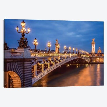 Pont Alexandre III 3-Piece Canvas #JNB84} by Jan Becke Canvas Art