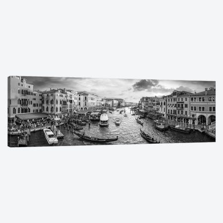 Panoramic View Of The Grand Canal At Sunset, Venice, Italy Canvas Print #JNB850} by Jan Becke Canvas Art