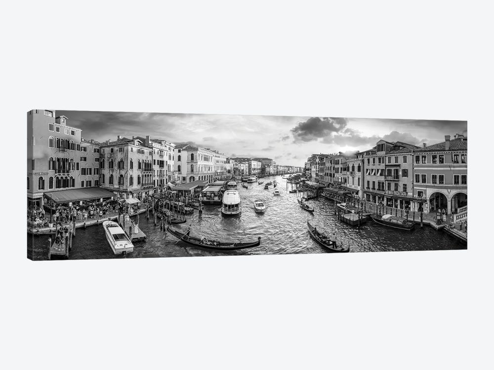 Panoramic View Of The Grand Canal At Sunset, Venice, Italy by Jan Becke 1-piece Art Print
