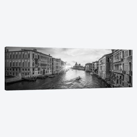 Panoramic View Of The Grand Canal At Sunrise, Venice, Italy Canvas Print #JNB851} by Jan Becke Canvas Art