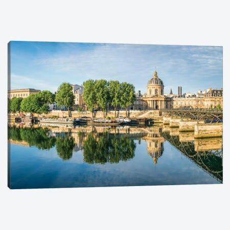 Institut De France And Pont Des Arts, Paris, France Canvas Print #JNB852} by Jan Becke Canvas Artwork