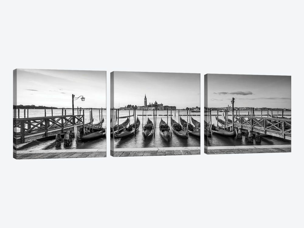 View Of San Giorgio Maggiore With Gondolas, Venice, Italy by Jan Becke 3-piece Canvas Art