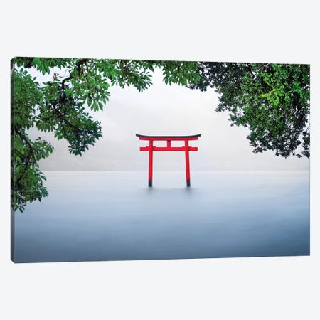 Red Torii Gate Canvas Print #JNB87} by Jan Becke Canvas Wall Art