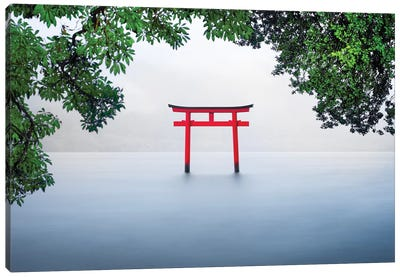 Red Torii Gate Canvas Art Print