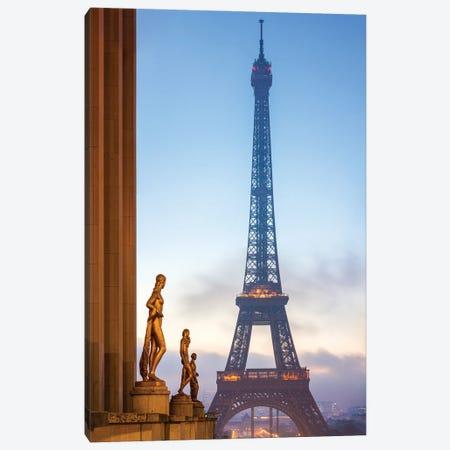 Place Du Trocadéro And Eiffel Tower, Paris, France Canvas Print #JNB886} by Jan Becke Canvas Art