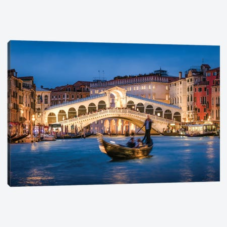 Rialo Bridge At Night Canvas Print #JNB89} by Jan Becke Canvas Art Print