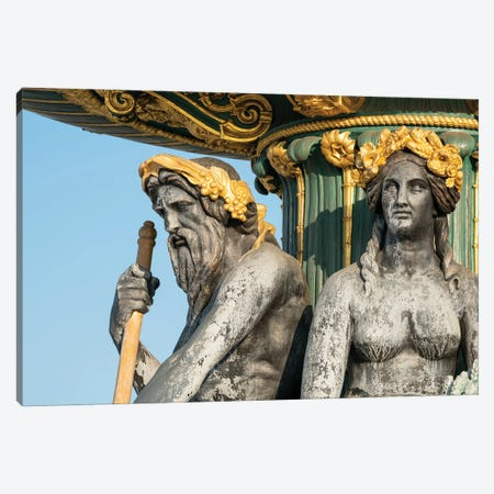 Fountain Of River Commerce And Navigation At The Place De La Concorde, Paris, France Canvas Print #JNB902} by Jan Becke Canvas Wall Art