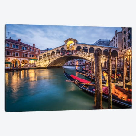 Rialto Bridge Canvas Print #JNB90} by Jan Becke Canvas Art