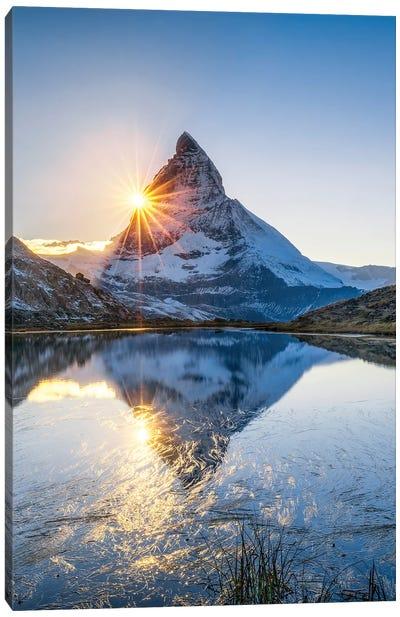 Riffelsee And Matterhorn Canvas Art Print