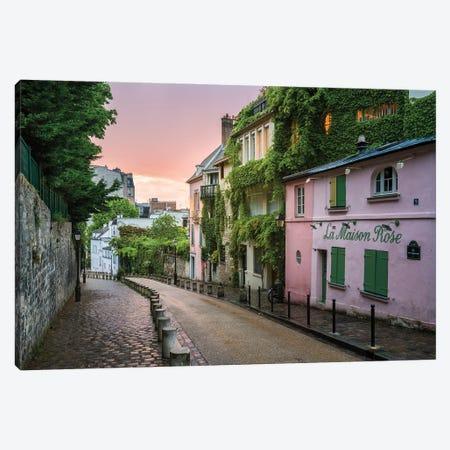 Street In Montmartre At Sunset, Paris, France Canvas Print #JNB931} by Jan Becke Art Print