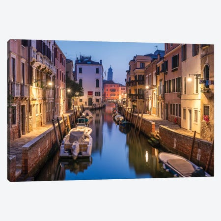 Romantic Canal In Venice, Italy Canvas Print #JNB93} by Jan Becke Canvas Wall Art
