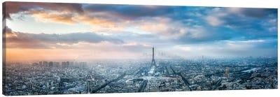 Aerial View Of Paris In Winter Canvas Art Print