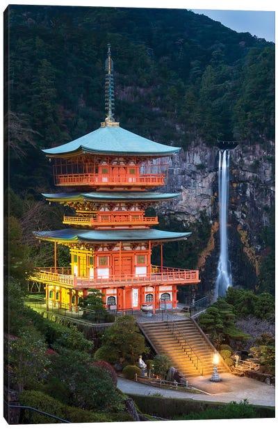 Seiganto-Ji Pagoda And Nachi Falls Canvas Art Print