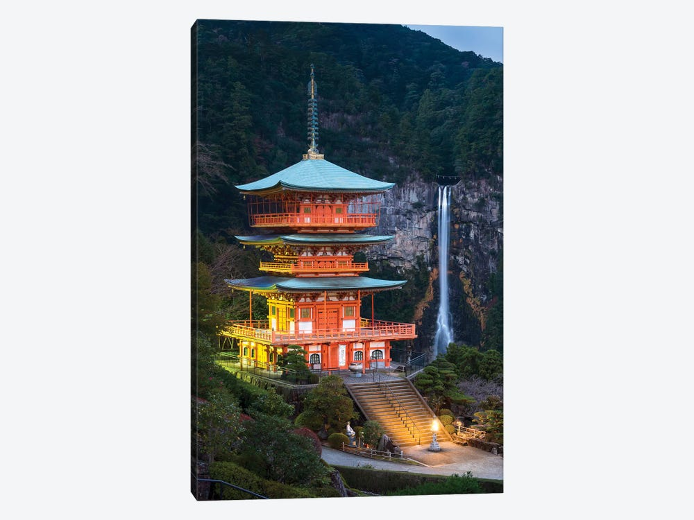 Seiganto-Ji Pagoda And Nachi Falls by Jan Becke 1-piece Canvas Art Print