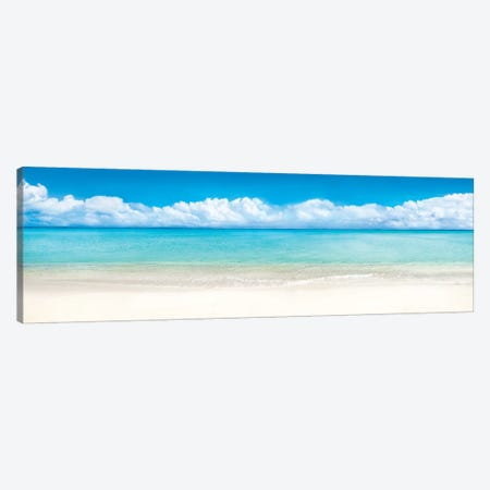 Beach Panorama, Bora Bora, French Polynesia Canvas Print #JNB9} by Jan Becke Canvas Art Print