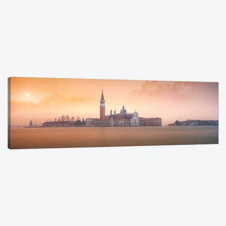 Venice Pink Sunrise Canvas Print #JND3} by Joanaduenas Canvas Print