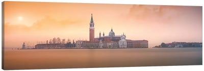 Venice Pink Sunrise Canvas Art Print