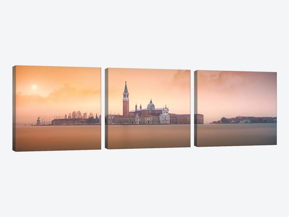 Venice Pink Sunrise by Joanaduenas 3-piece Canvas Artwork