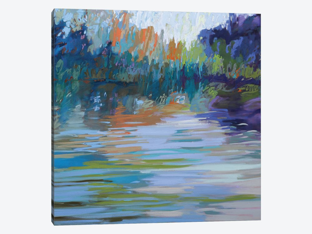 Waterways VI by Jane Schmidt 1-piece Canvas Print