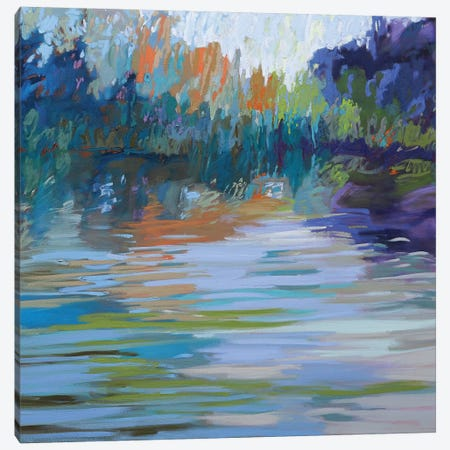 Waterways VI Canvas Print #JNE23} by Jane Schmidt Canvas Wall Art