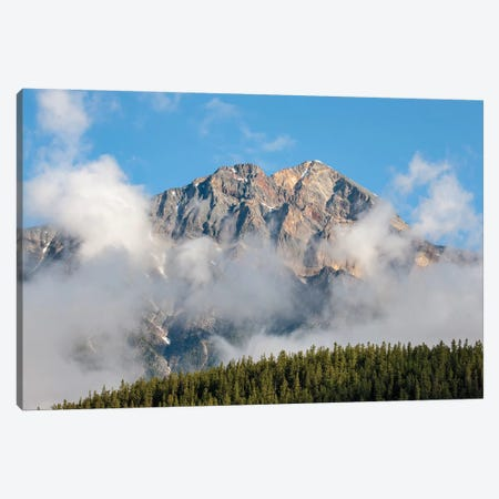 Jasper National Park, Alberta, Canada. View Of Pyramid Mountain From Patricia Lake Circle Trail. 3-Piece Canvas #JNH27} by Janet Horton Canvas Wall Art