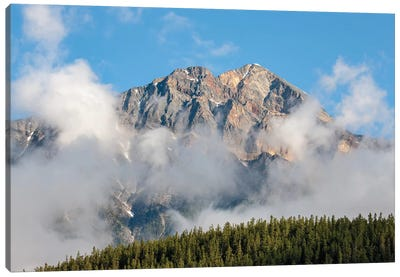 Jasper National Park, Alberta, Canada. View Of Pyramid Mountain From Patricia Lake Circle Trail. Canvas Art Print