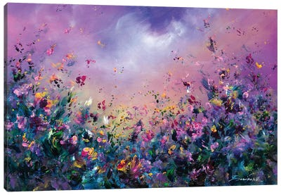 Rainbow Meadow Canvas Art Print