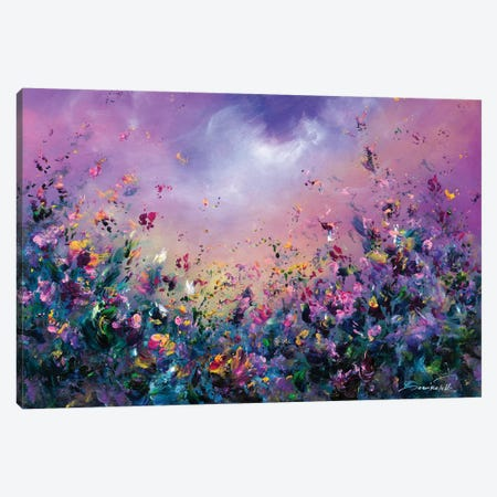 Rainbow Meadow Canvas Print #JNI10} by Jaanika Talts Canvas Art Print