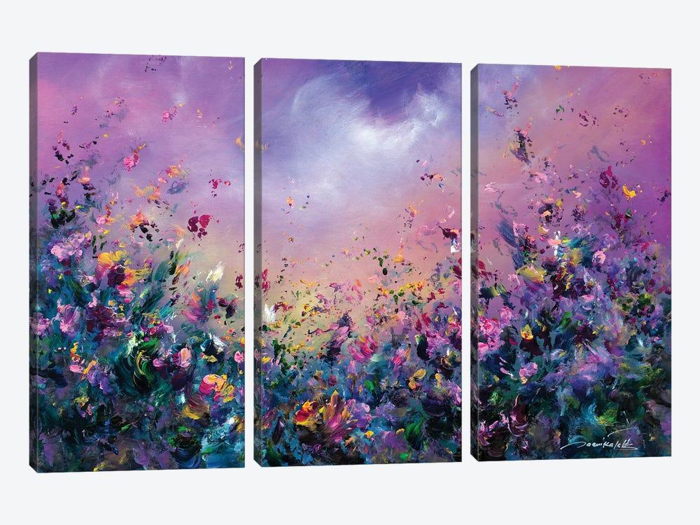 Rainbow Meadow by Jaanika Talts 3-piece Canvas Art Print