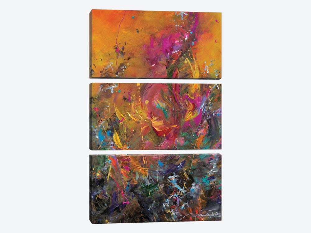 Return To Paradise II by Jaanika Talts 3-piece Canvas Art Print