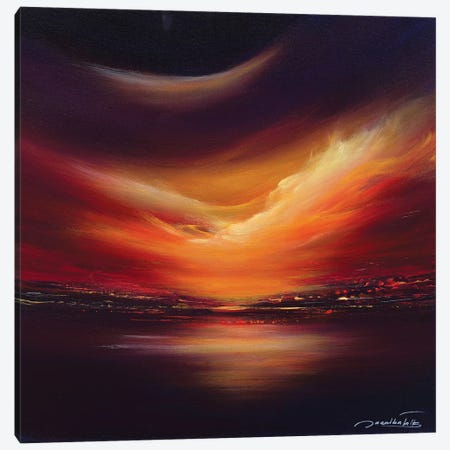 Gold Sky Canvas Print #JNI7} by Jaanika Talts Canvas Art Print
