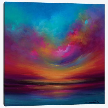 Purple Curved Sky Canvas Print #JNI9} by Jaanika Talts Canvas Art
