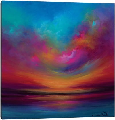Purple Curved Sky Canvas Art Print