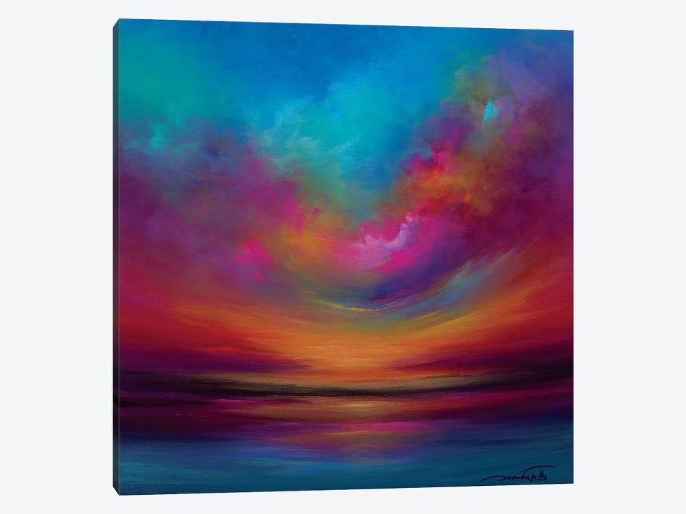 Purple Curved Sky by Jaanika Talts 1-piece Canvas Art Print