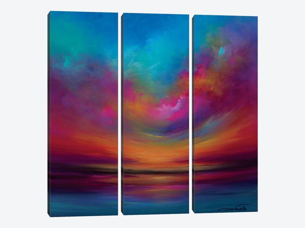 Purple Curved Sky by Jaanika Talts 3-piece Art Print