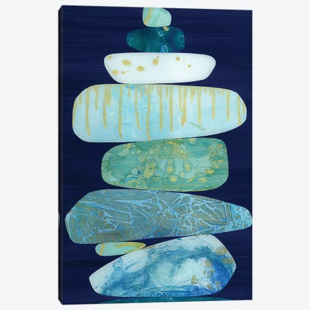 Stone Blue Canvas Print #JNM22} by Jane Monteith Canvas Art