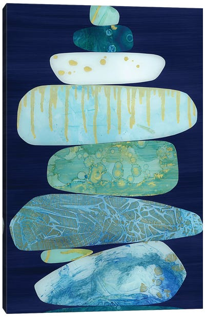 Stone Blue Canvas Art Print