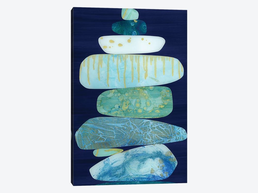Stone Blue by Jane Monteith 1-piece Canvas Art Print