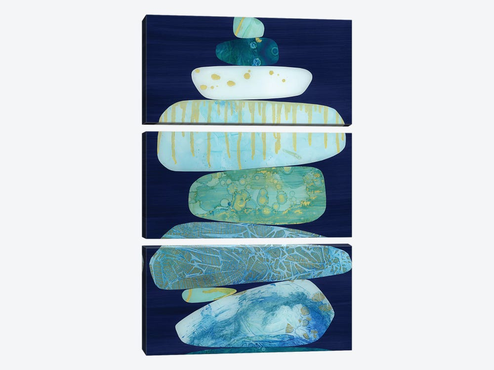 Stone Blue by Jane Monteith 3-piece Canvas Art Print