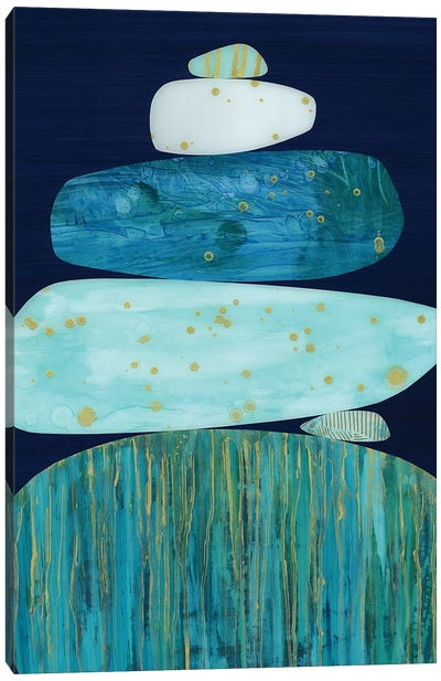 Zen Blue Canvas Art Print