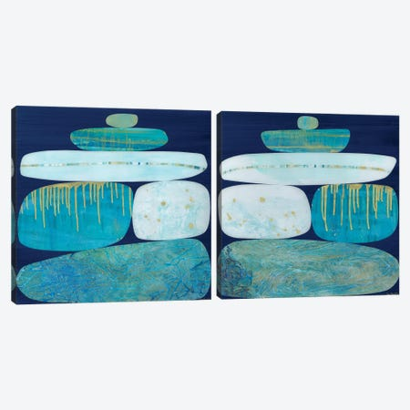 Blue Ice Diptych Canvas Print Set #JNM2HSET001} by Jane Monteith Canvas Print