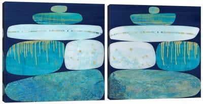 Blue Ice Diptych Canvas Art Print