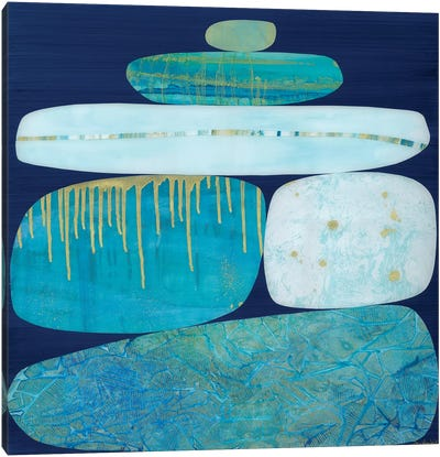 Blue Ice I Canvas Art Print