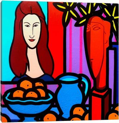 Homage To Modigliani #1 Canvas Art Print