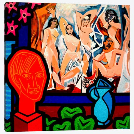 Homage To Picasso #1 Canvas Print #JNN12} by John Nolan Canvas Art