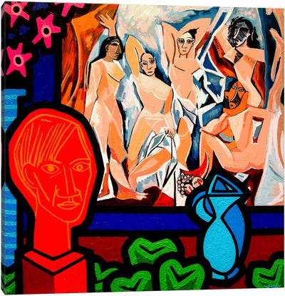 Homage To Picasso #1 Canvas Art Print