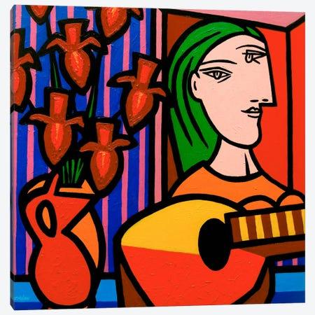 Homage To Picasso #2 Canvas Print #JNN13} by John Nolan Canvas Wall Art