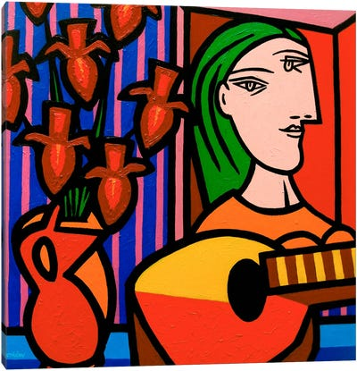 Homage To Picasso #2 Canvas Art Print