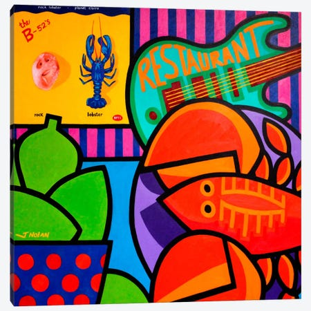 Homage To Rock Lobster Canvas Print #JNN14} by John Nolan Canvas Print