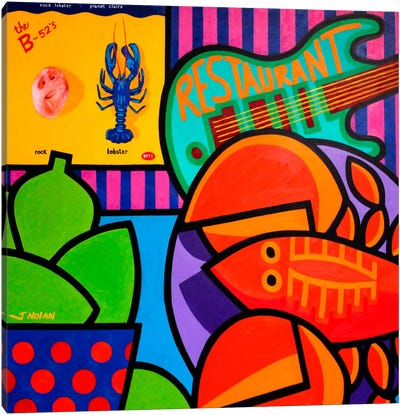 Homage To Rock Lobster Canvas Art Print